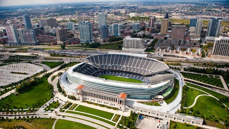 Estádio Soldier Field em Chicago